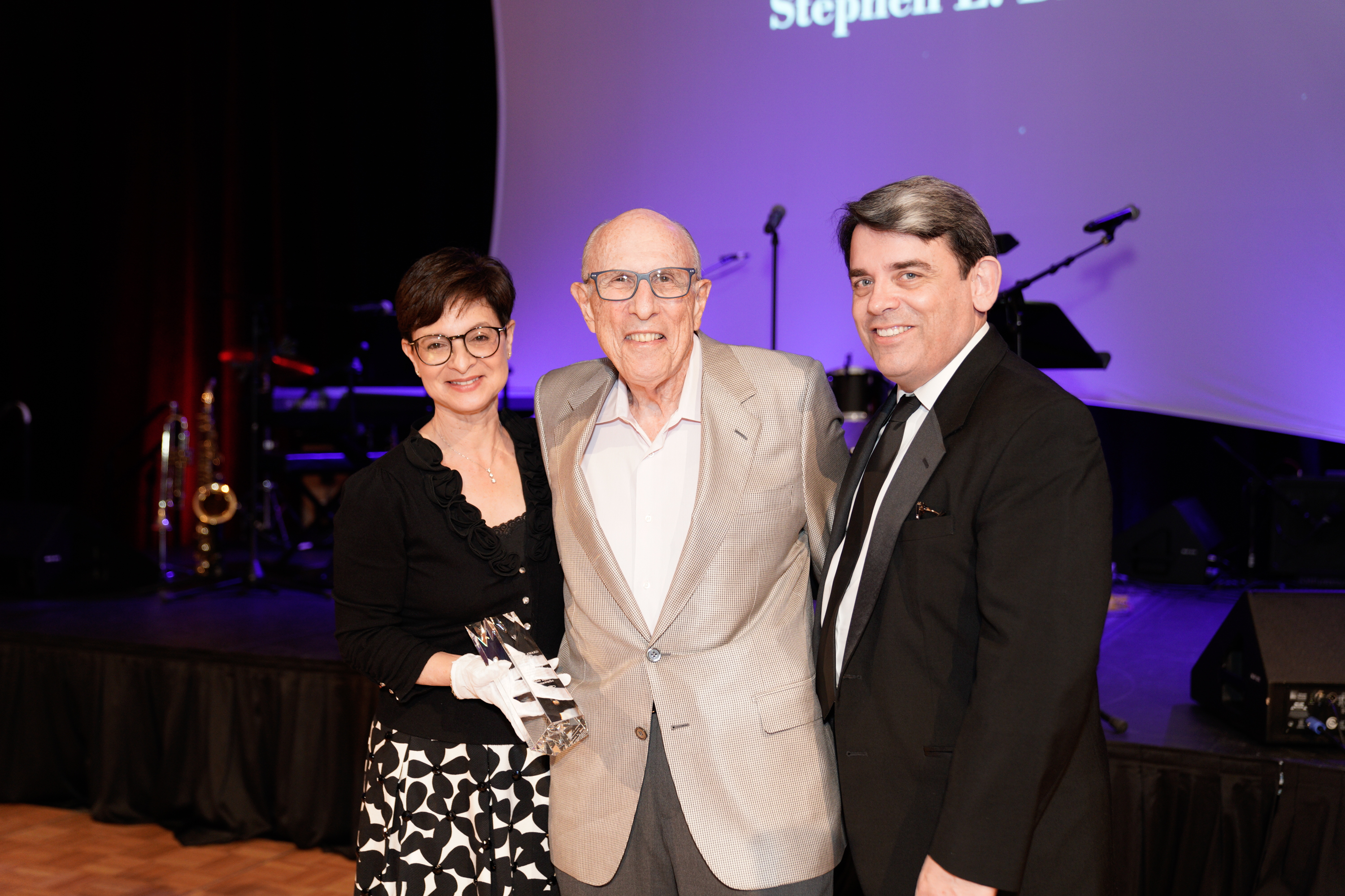 20th Annual Gala - Sue Ellen Beryl, Shelly Award Recipient Stephen L. Brown and William Hayes