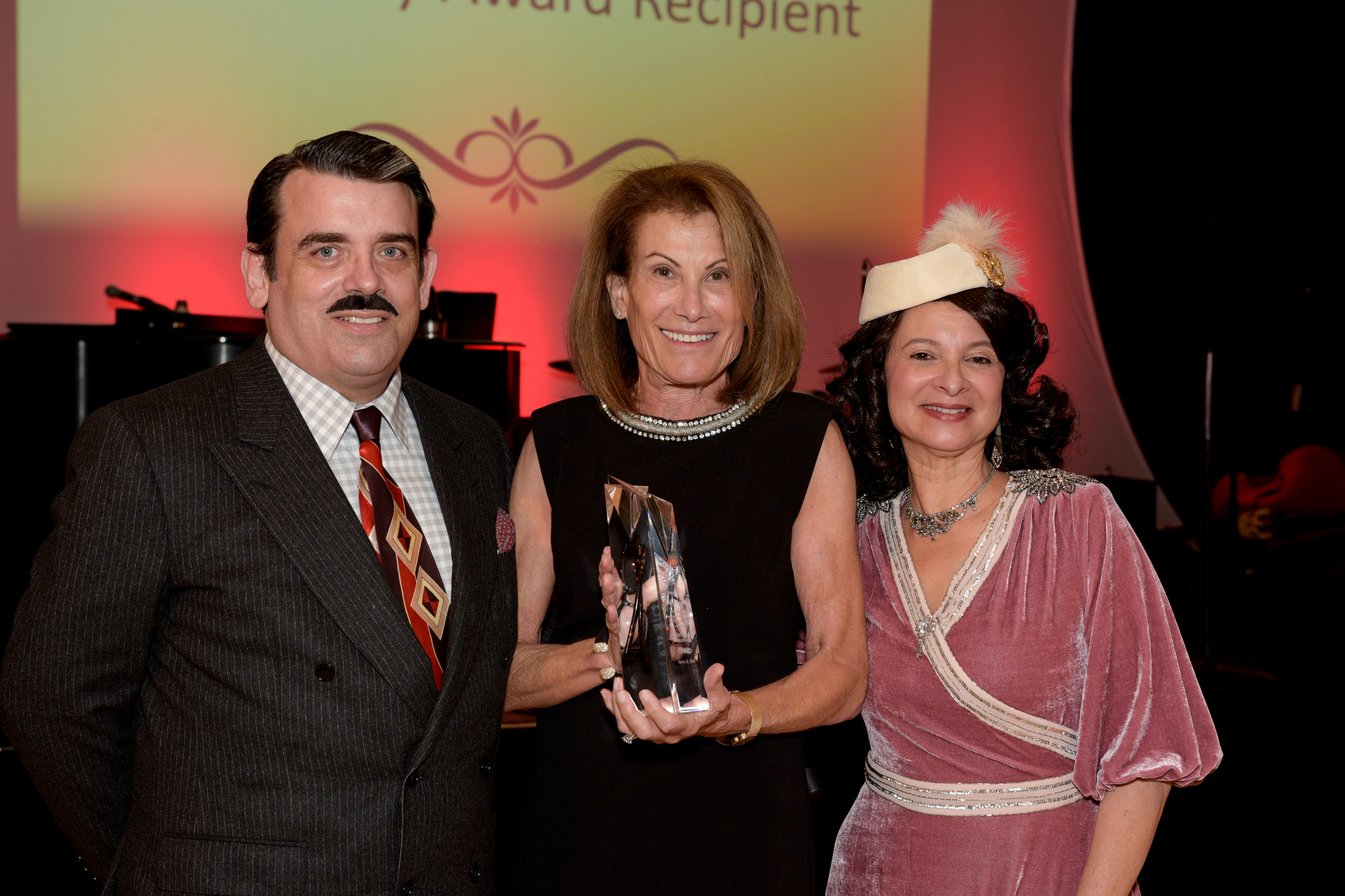 Shelly Awardee Louise Snyder with William Hayes and Sue Ellen Beryl